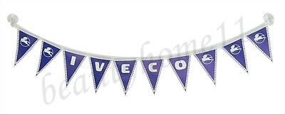 IVECO Truck Buses Decorating Strip Flags Banner Double Face With Cups