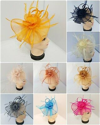 Large Fascinator with Headband and Clip Weddings Ladies Day Race Royal Ascot