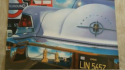 Vintage poster by REYNOLDS high quality glossy paper  Lincoln Continental 1956