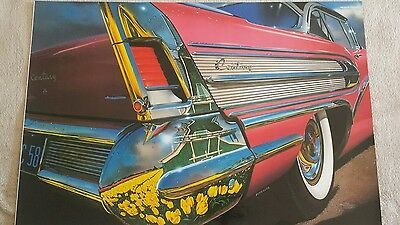 Vintage poster by REYNOLDS high quality glossy paper Custom  Buick Century 1958