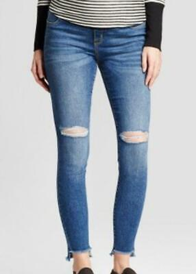 9bfec8a8a4f8d TARGET Isabel Maternity Distressed Skinny Jeans w/ Side Panels Medium Wash  NEW!