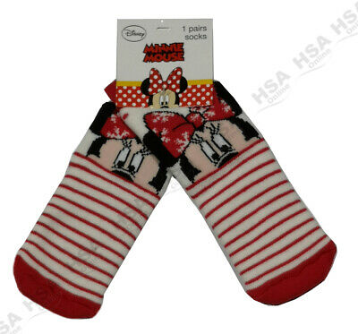 SALE!! 2 Pairs Girls /Baby Disney Minnie Mouse Slipper Socks,NonSlip Grippers