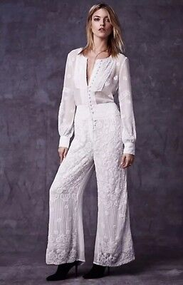7c7bbb09bdd Free People New Romantics Power Babe Romper Lace Embellished Jumpsuit  Wedding