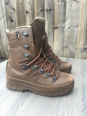 Haix Cold Wet Weather Full Leather Brown MTP Boots British Army Surplus Issue 9M