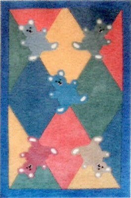 """1:48 Scale Dollhouse Area Rug 0001762 - approximately 1-3/4"""" x 2-5/8"""""""