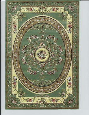 """1:12 Scale Dollhouse Area Rug 0001143 - approximately 7 1/8"""" x 10 1/2"""""""