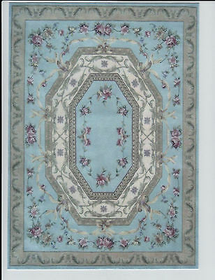 """1:12 Scale Dollhouse Area Rug 0001146 - approximately 7 5/8"""" x 10 1/2"""""""