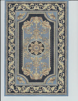 """1:12 Scale Dollhouse Area Rug 0001152 - approximately 7"""" x 10 1/2"""""""
