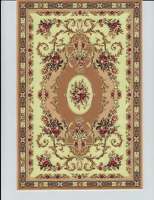 """1:12 Scale Dollhouse Area Rug 0001153 - approximately 7"""" x 10 1/2"""""""