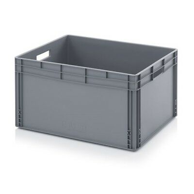 Plastic Container 80x60x42 Plastic Containers Plastic Crate Transport Box Grey