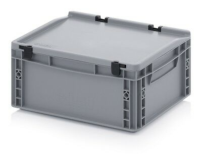 Plastic Container 40x30x18, 5 Plastic Containers Plastic Crate Transport Box Lid