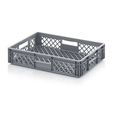 Plastic Box 60x40x12 Perforated Storage Box Stacking Crates Chest Euro