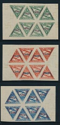Latvia. 1931. Airmal. Unclear print/forgery (?) UNUSED BLOCKS