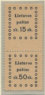 Lithuania. 1919. Pair with 2 different values - MNH #3