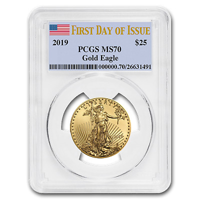 2019 1/2 oz Gold American Eagle MS-70 PCGS (First Day of Issue) - SKU#177791