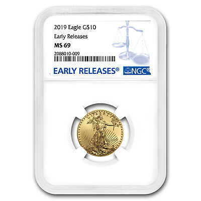 2019 1/4 oz Gold American Eagle MS-69 NGC (Early Releases) - SKU#171553