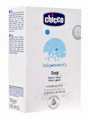 6x Chicco baby moments Baby Soap (75gm) baby care Gently Clean SLS, SLES free
