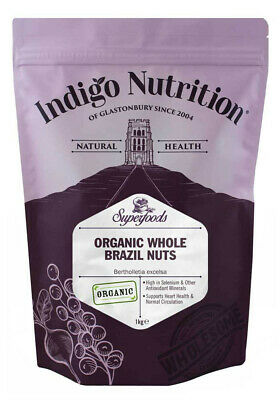 Indigo Herbs Organic Whole Brazil Nuts 1kg