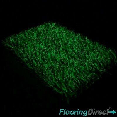 Glow in the Dark Artificial Grass 35mm Green Garden Realistic Lawn Astro Turf