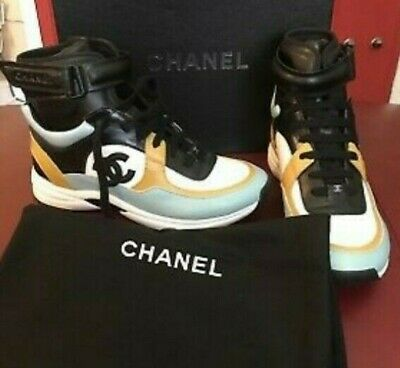 83334c355 CHANEL HIGH TOP sneakers Size 10 women's EU 41 - $510.00 | PicClick