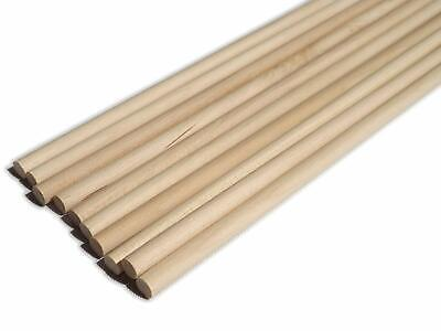30cm Wooden Craft Sticks - Hardwood Dowels Poles rods craft 18mm dia 10 pack