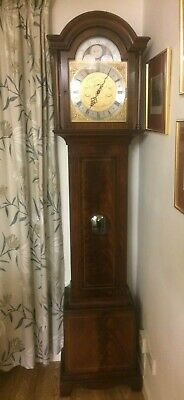 Top quality Comitti solid mahogany  longcase grandfather clock moonphase