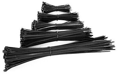 Quality Black Cable Zip Ties Non Releasable Wraps **Various Sizes & Quantity**