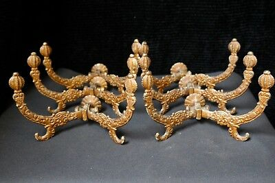Antique Matching Set of 6 Cast Iron Coat Rack Hooks, Hat Hooks, Hall Tree Hooks
