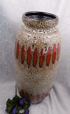 Xxl Fat Lava Floor Vase Scheurich 517 50 44 00 Picclick Uk