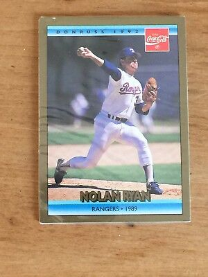 Sealed Pack Of 4 1992 Donruss Coca Cola Baseball Cards Nolan Ryan On Front Card