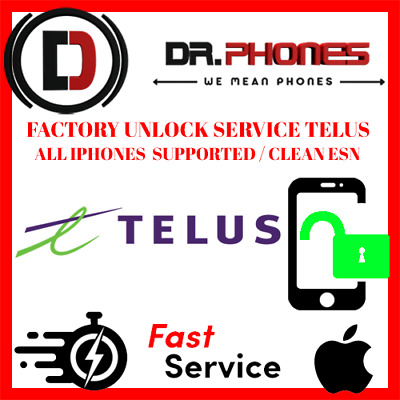 Factory Unlock Service For Telus Iphone Xs Xr X 8 8+ 7+ 7 6+ 6 6S Clean Unlock