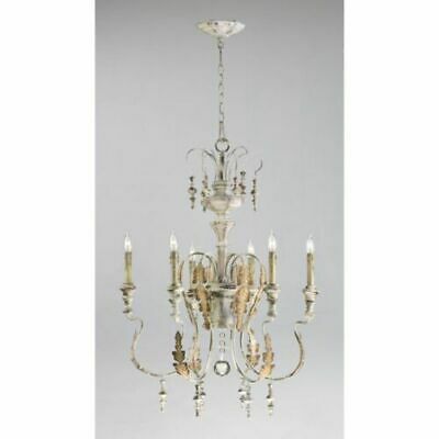 Stunning French Farmhouse Chandelier Chateau Acanthus Cottage Chic Motivo 34""