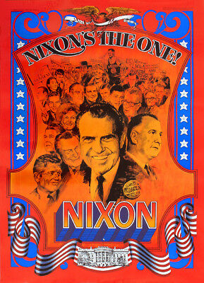 Classic Graphic 1968 Richard NIXON'S THE ONE Youth Campaign Poster (1792)