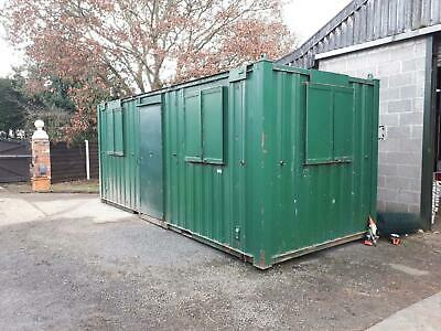 20ft shipping container. Full office with electrics, lighting and heating