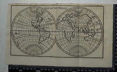 1776 Pluche - Engraving of Map of the World