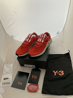 low priced 07808 02b16 Adidas Y-3 Y3 4D Runner Futurecraft Red UK 10 US 10.5 Authentic In Hand
