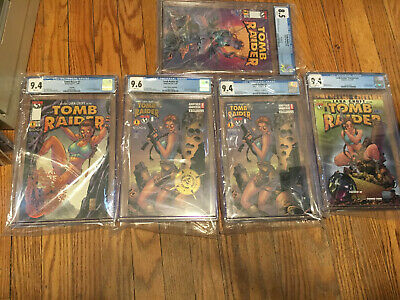 Tomb Raider #1 CGC 8.5-9.6 Set of 5 Variants Michael Turner, Another Universe