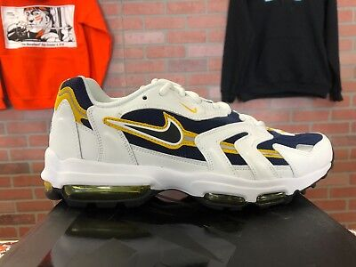 d1a85ded52f8 Nike Air Max 96 II XX Midnight Navy Black-White-Goldenrod 870166 400