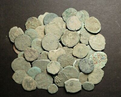 50 Uncleaned Low Quality Late Roman Imperial Coins AE4