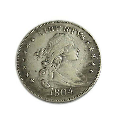 1804 Silver Coins 39mm Diameter Uncirculated King American Dollor Round H05