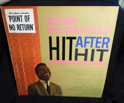 ** Gene Mcdaniels Hit After Hit Lp Record Album 1982 Liberty Records Reissue *