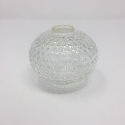 Antique Weathervane Lightning Rod Round Globe - Dimpled Bubble Clear Glass 3.5""