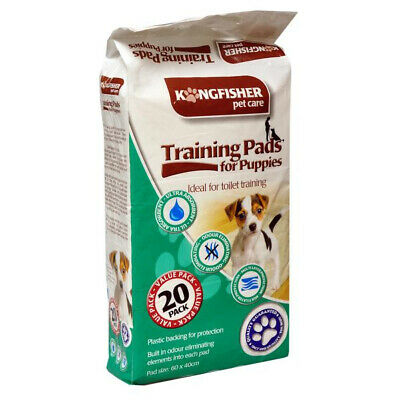 Kingfisher 20 x Dog Puppy Super Absorbent Training Potty Toilet Pads 60 x 40cm