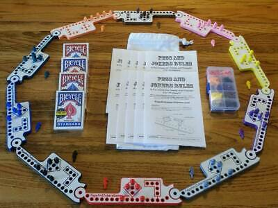 10 Players Pegs and Jokers or Marbles NEW American Made in USA Family Game Night