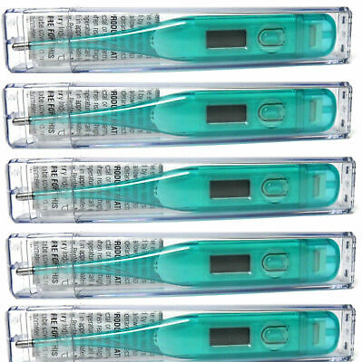 Lot of 5 Digital Fever Thermometer - Oral Under Arm Rectal Use Auto-Off Function