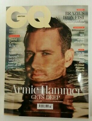 UK Mens British GQ Magazine March 2019 - Armie Hammer Brand New