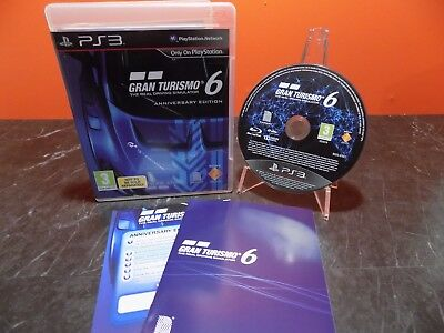 Gran Turismo 6 Anniversary Edition Sony Playstation 3 PS3 PAL L153