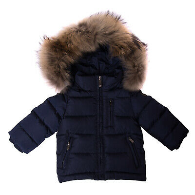 IL GUFO Down Quilted Jacket Size 6M Raccoon Fur Trim Double Cuffs