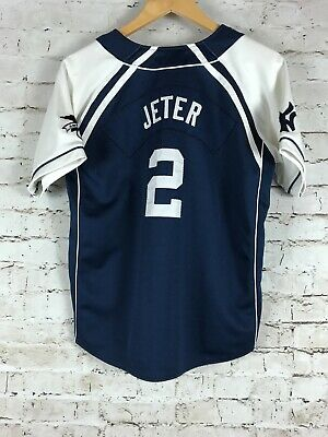 WOMEN S DEREK JETER Jersey Size Large Nike MLB Baseball Blue New York  Yankees b26b0b9717f