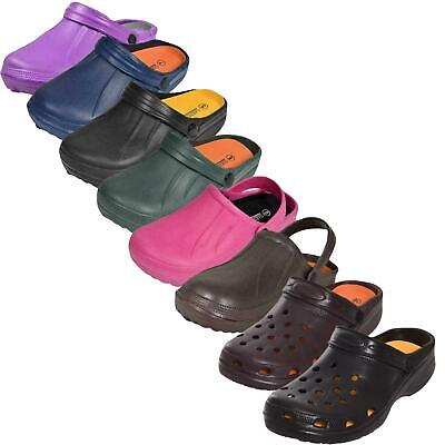 Mens Womens Garden Clogs Slip on Mules Sandal Beach Pool Chef Hospital Size 4-11